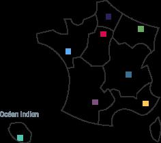 Carte des délégations régionales